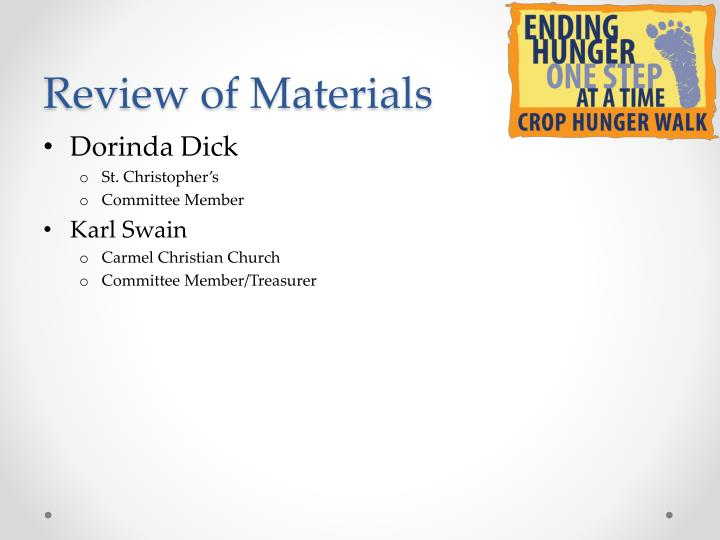 Review of Materials