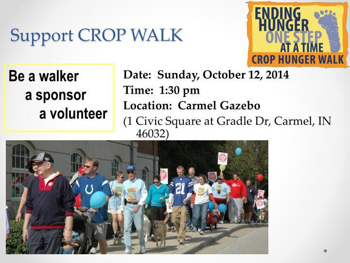 Support CROP WALK