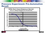 pressure experiment pre automation result