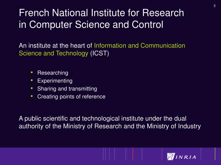 French national institute for research in computer science and control1