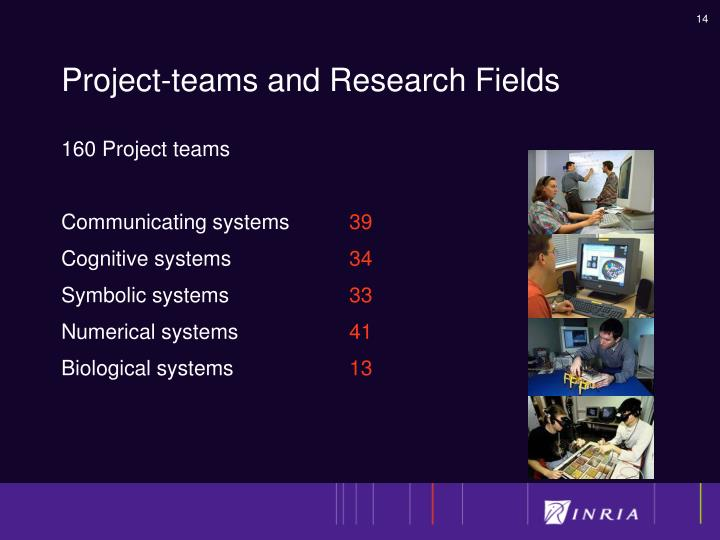 Project-teams and Research Fields