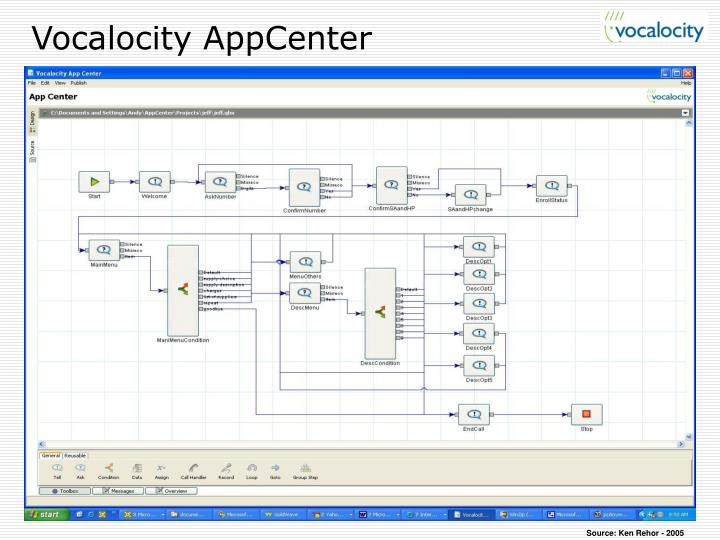 Vocalocity AppCenter