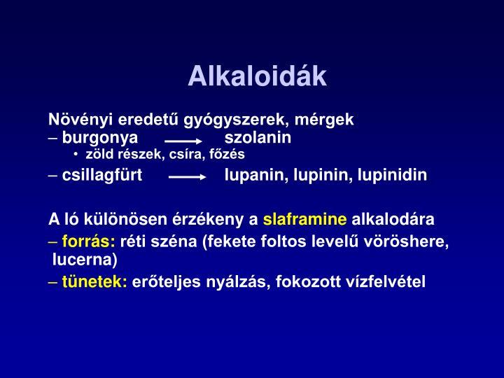Alkaloidák