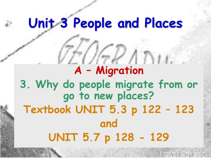 unit 3 people and places n.