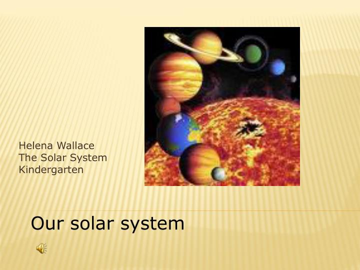 helena wallace the solar system kindergarten n.