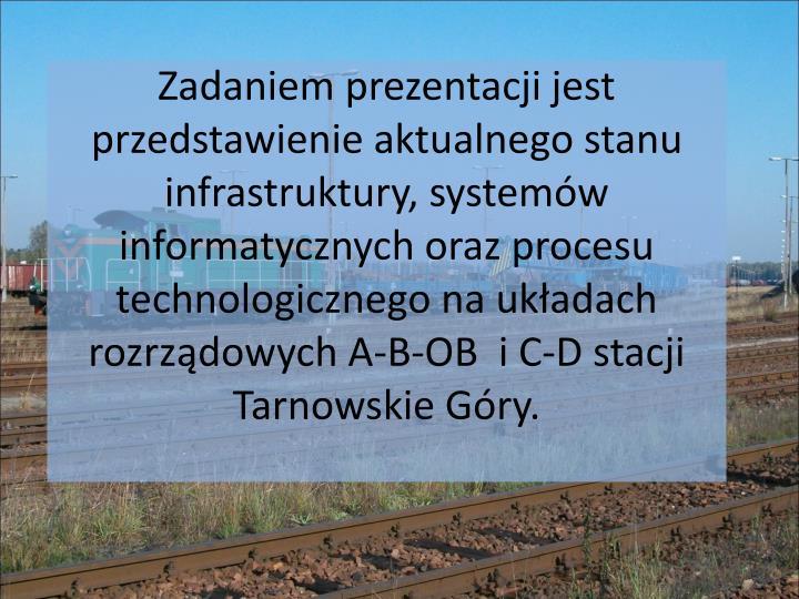 Zadaniem prezentacji jest przedstawienie aktualnego stanu infrastruktury, systemów informatycznych ...