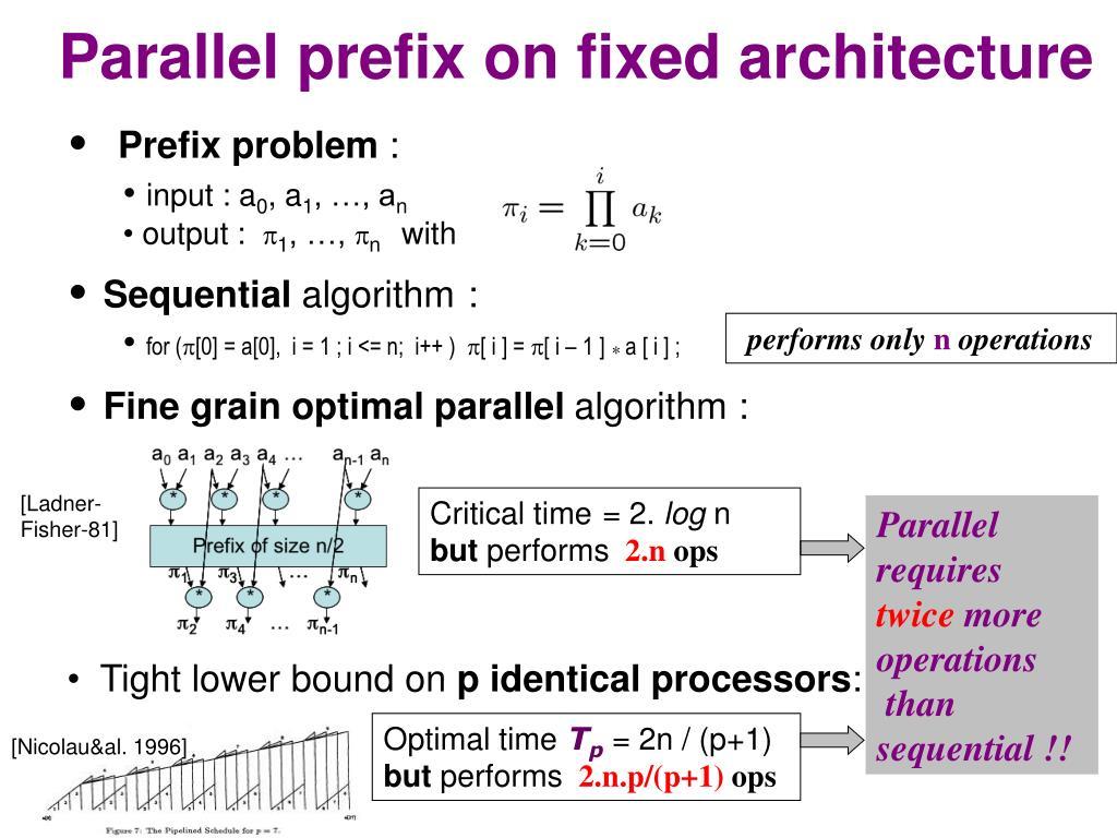 PPT - On-line adaptative parallel prefix computation