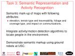 task 3 semantic representation and activity recognition
