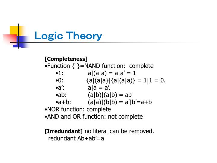 Logic Theory