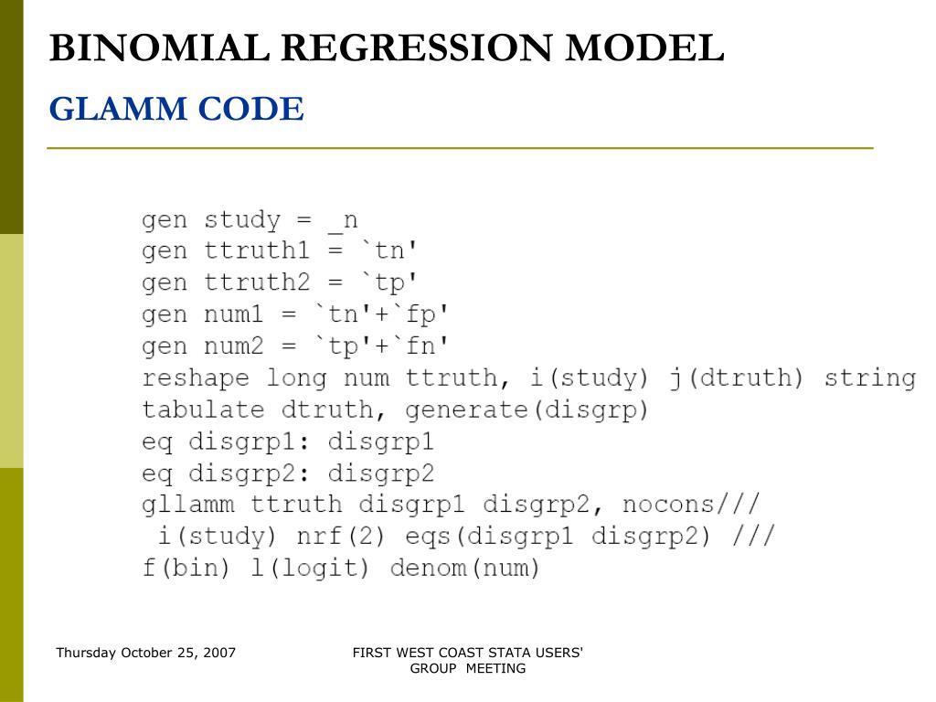 Binomial stata