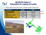 moddifs option 2 polarization for liquids and solids