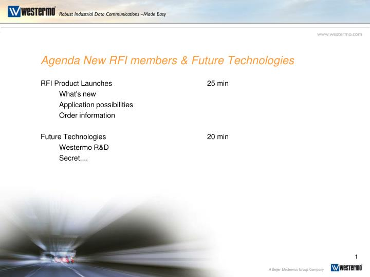 agenda new rfi members future technologies n.