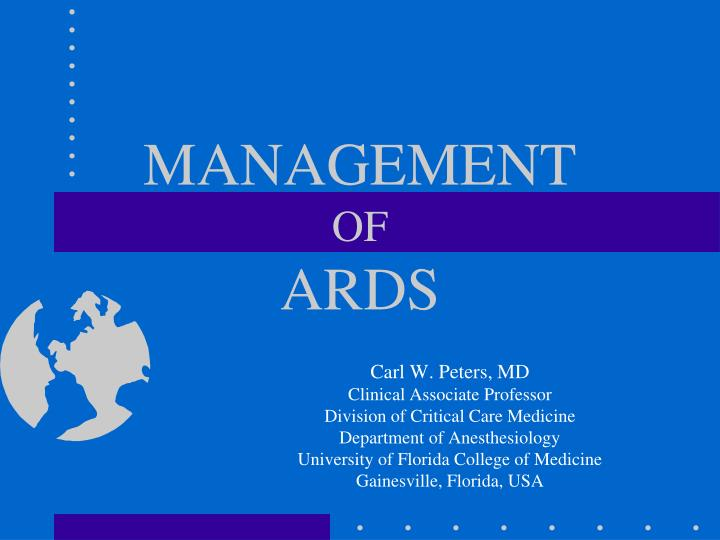 management of ards n.