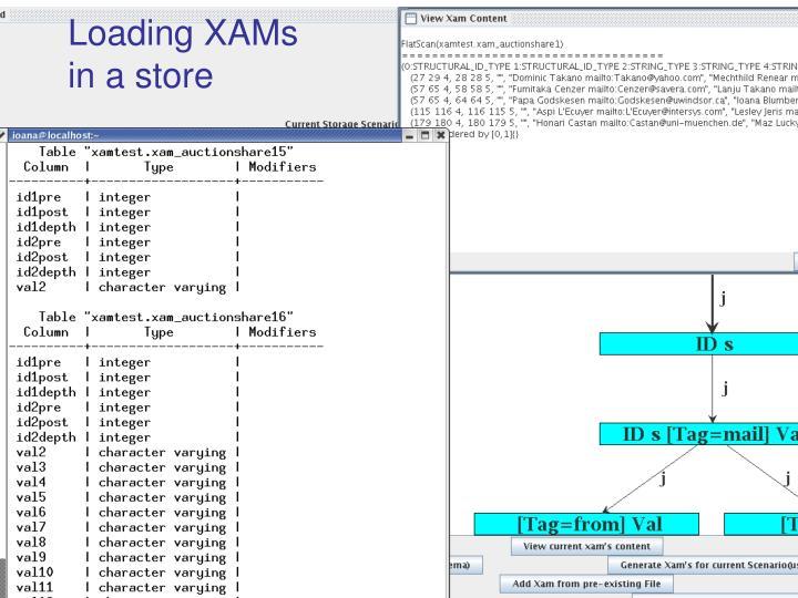 Loading XAMs
