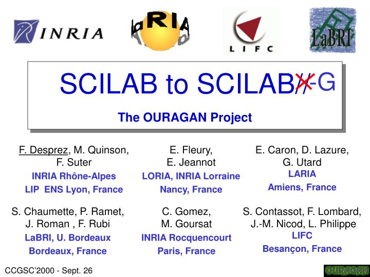 scilab to scilab the ouragan project n.