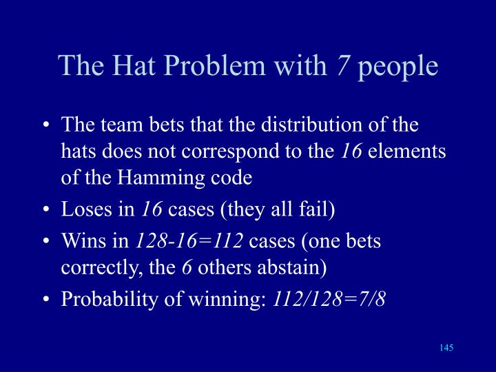 The Hat Problem with