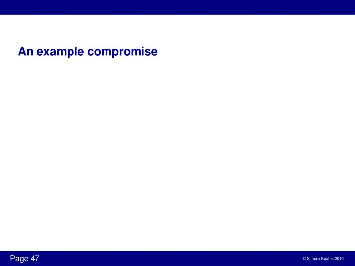 An example compromise