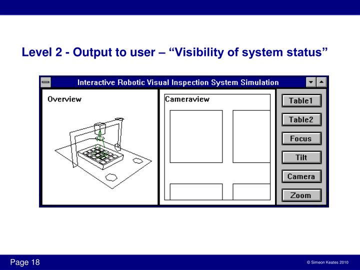 Level 2 - Output to user
