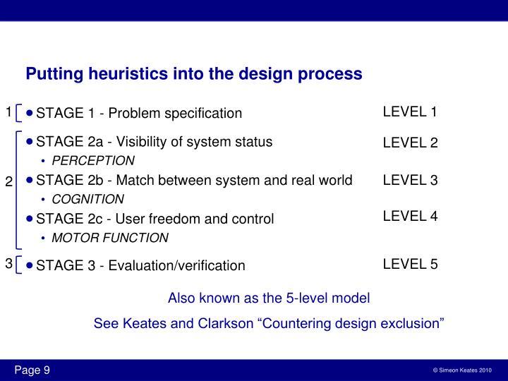 Putting heuristics into the design process