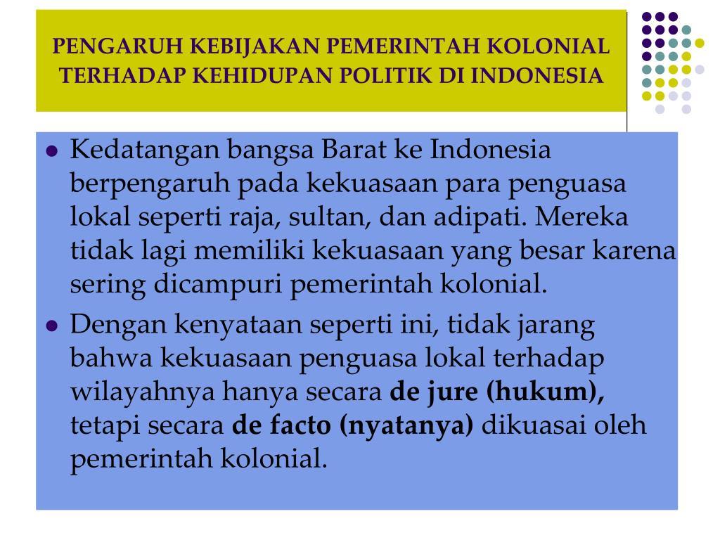 PPT - BAB 1 PERKEMBANGAN KOLONIALISME BANGSA BARAT PASCA ...