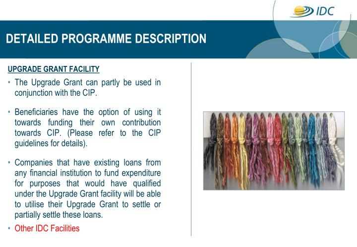 DETAILED PROGRAMME DESCRIPTION