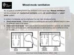 mixed mode ventilation