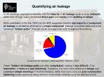 quantifying air leakage