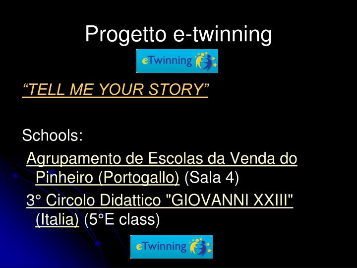 progetto e twinning n.
