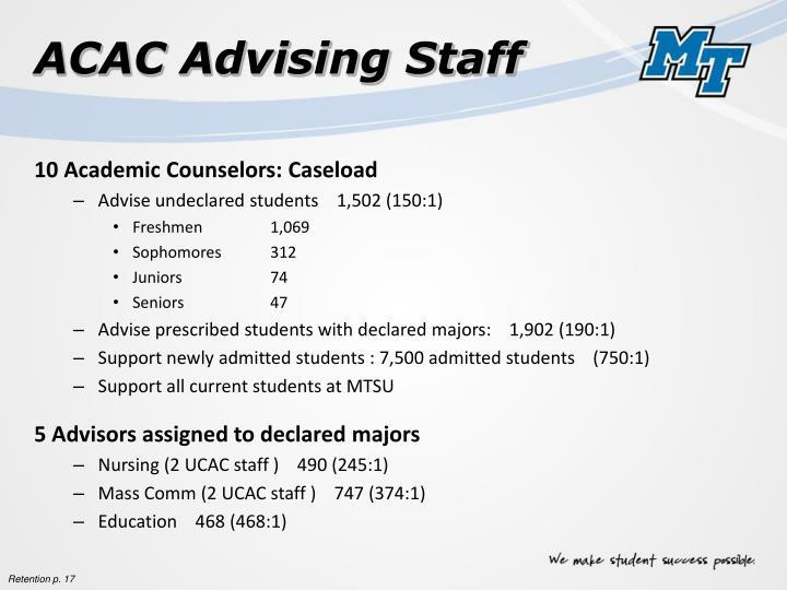 ACAC Advising Staff