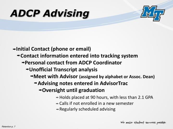 ADCP Advising