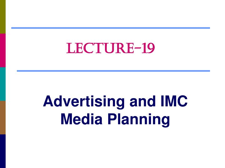 advertising and imc media planning n.