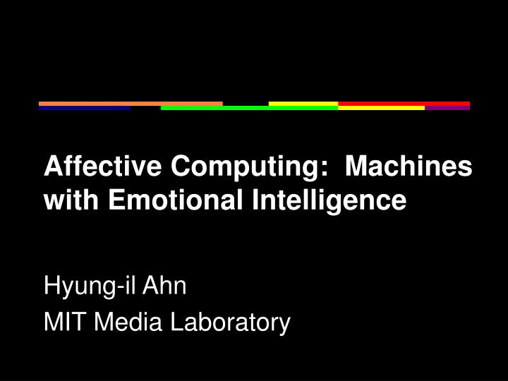 affective computing machines with emotional intelligence n.