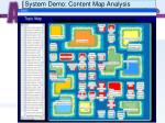 system demo content map analysis