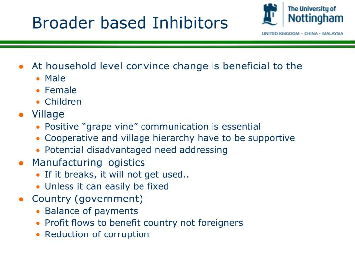 Broader based Inhibitors