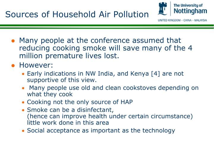 Sources of Household Air Pollution