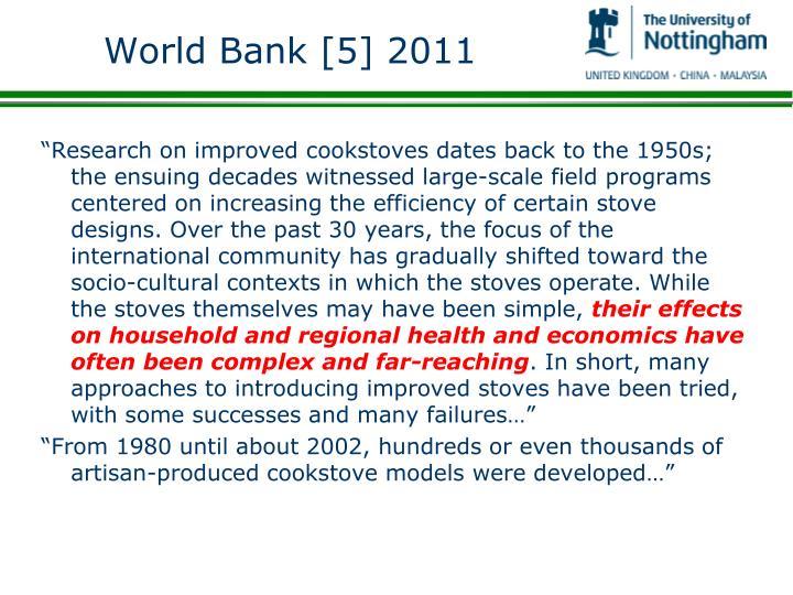 World Bank [5] 2011