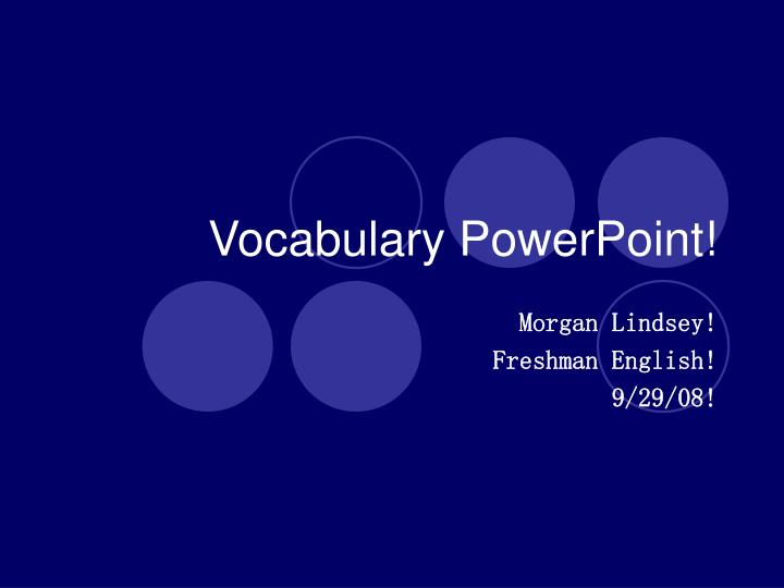 vocabulary powerpoint n.