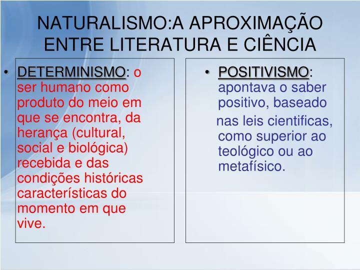 Naturalismo a aproxima o entre literatura e ci ncia