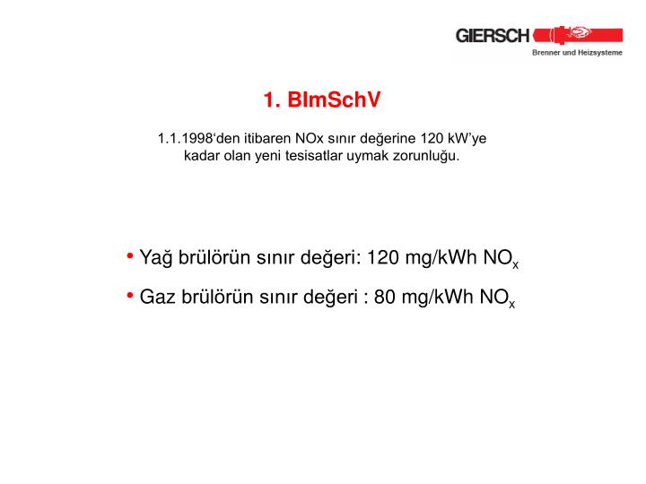 1. BImSchV