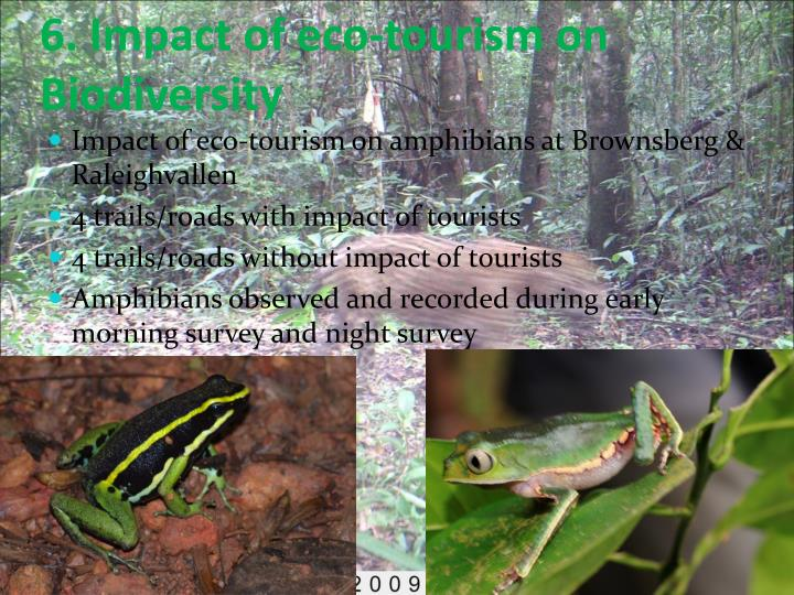 6. Impact of eco-tourism on Biodiversity