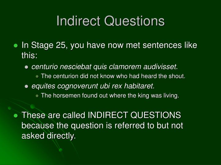 Indirect questions1