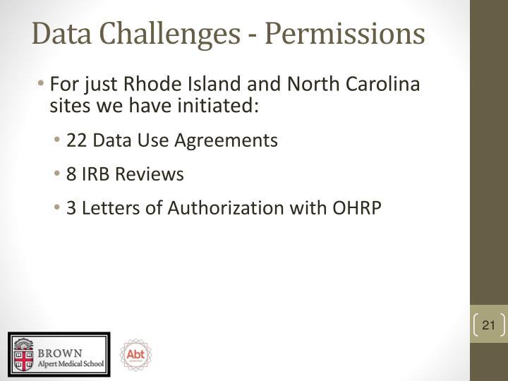 Data Challenges - Permissions