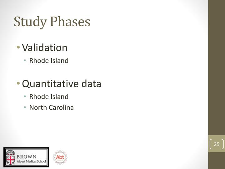 Study Phases