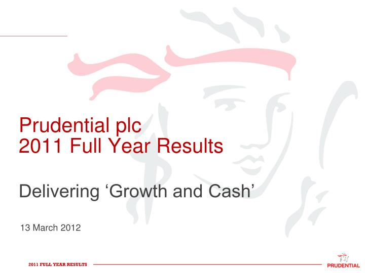 prudential plc 2011 full year results n.