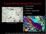 lunar olivine basalt thinsection