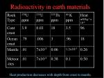 radioactivity in earth materials