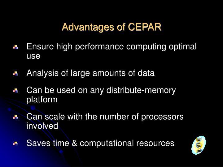 Advantages of CEPAR