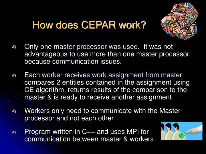 How does CEPAR work?