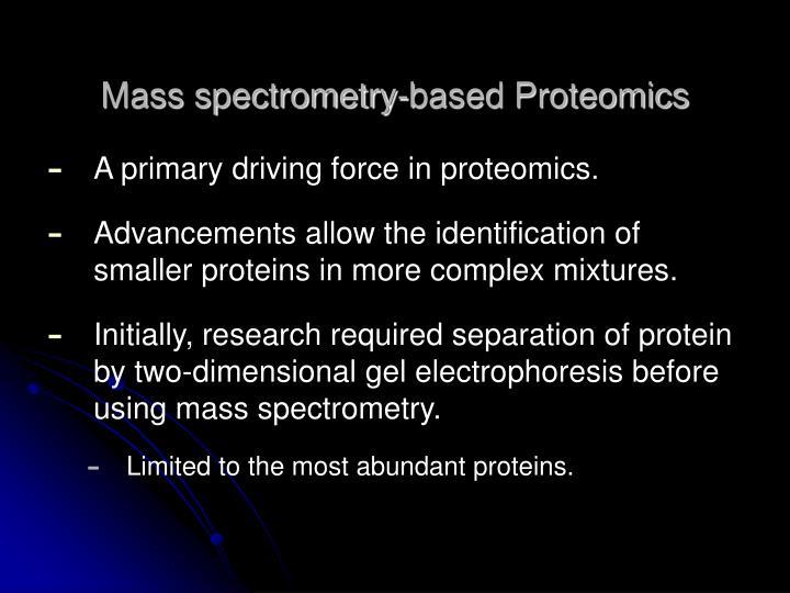 Mass spectrometry-based Proteomics