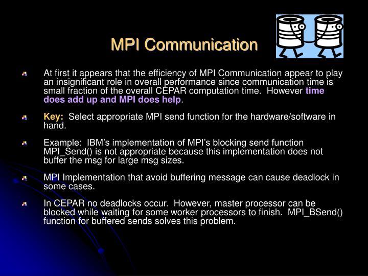 MPI Communication